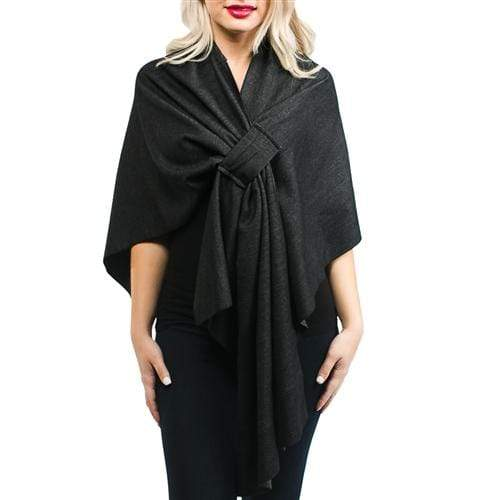 vendor-unknown JUST IN! Black Monogrammed Keyhole Kate Wrap