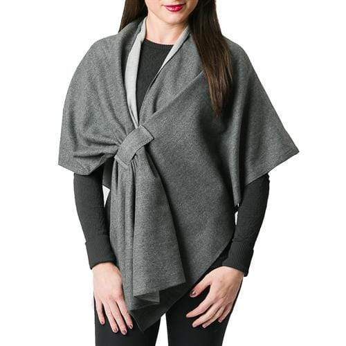 vendor-unknown JUST IN! Gray Monogrammed Keyhole Kate Wrap