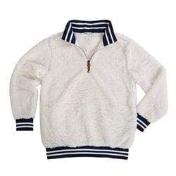 vendor-unknown JUST IN! Small / Navy Monogrammed Varsity Sherpa