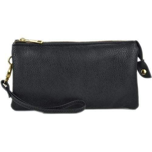 vendor-unknown Purses Black Monogrammed Original Crossbody Clutch