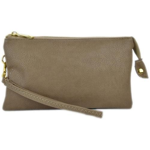 vendor-unknown Purses Taupe Monogrammed Original Crossbody Clutch