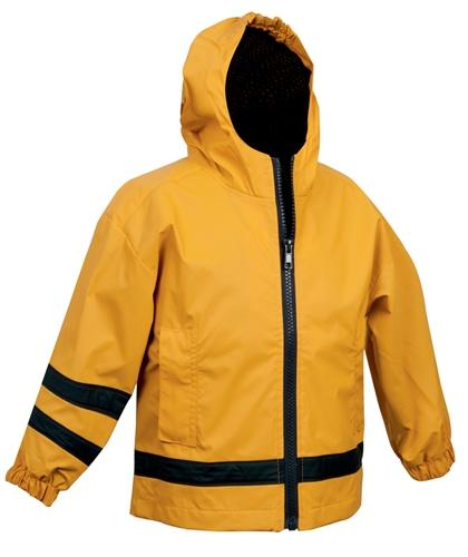 vendor-unknown Rain Jackets 2T / Yellow Monogrammed Toddler Rain Jacket