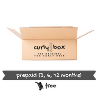 CURLY BOX for fine hair - quarterly subscription