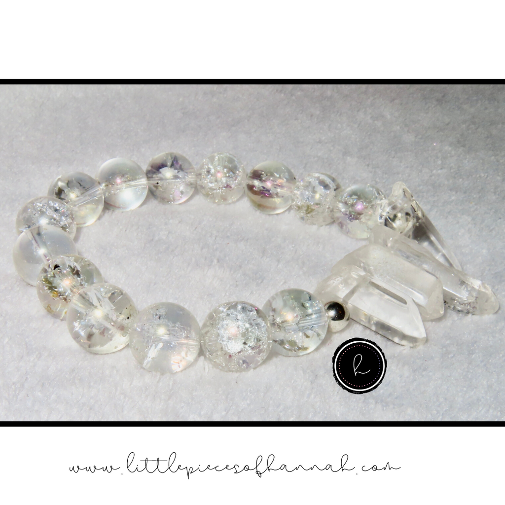 Crystal Glass Bracelet - Little Pieces of Hannah - Little Pieces Of Hannah