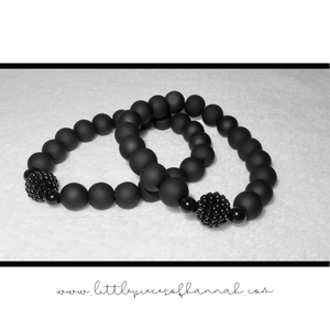 Black on Black Bracelet - Little Pieces of Hannah - Little Pieces Of Hannah