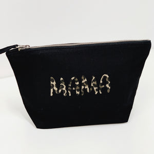 Medium Bucket Cosmetic Bag - Black