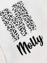 Load image into Gallery viewer, Personalised White Stocking - Leopard Print Letter