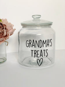 Large Glass Personalised Jar