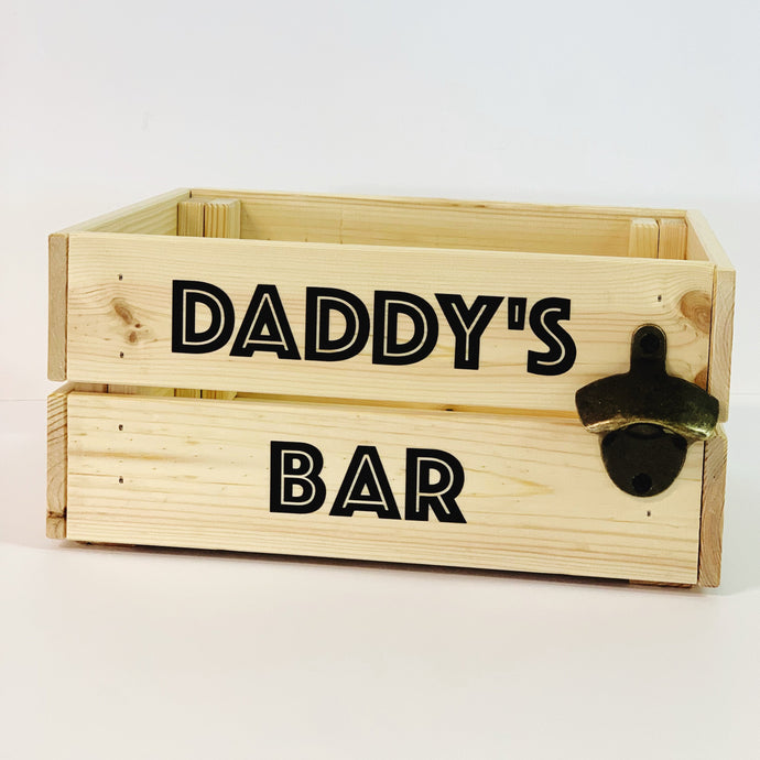 Wooden Box with Bottle Opener