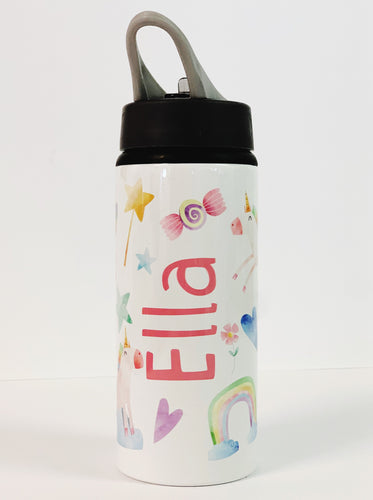 Unicorn Water Bottle - Personalised - Name