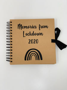 Personalised Scrapbook - Memories - Rainbow