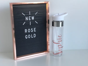 Large Water Bottle - Rose Gold
