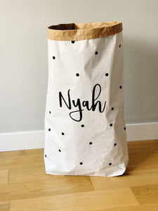 Large Spotty Paper Storage Sack