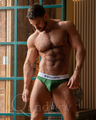 Ballistic Army Green Brief - BALLISTIC MENSWEAR