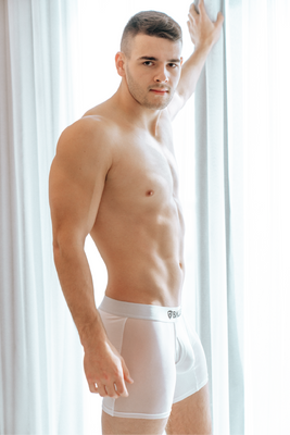White Mesh Boxer Brief SMALL (25% OFF) - BALLISTIC MENSWEAR