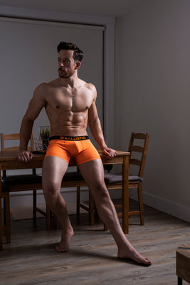 Ballistic Orange Lycra Boxer Brief - BALLISTIC MENSWEAR