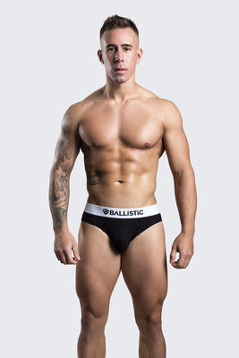 Ballistic Black Viscose Brief - BALLISTIC MENSWEAR