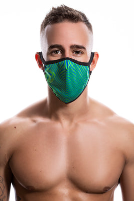 Ballistic Reusable Face Mask Green - BALLISTIC MENSWEAR