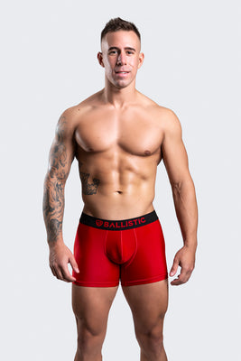 Ballistic Red Lycra Boxer Brief - BALLISTIC MENSWEAR