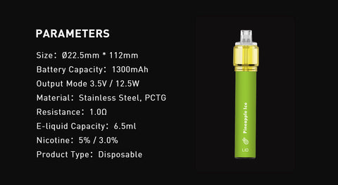 LIO BEE18 Max 2500 Puff Specifications
