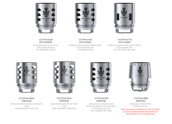 SMOK TFV12 PRINCE CLOUD KING REPLACEMENT COILS
