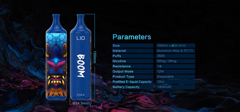 iJoy Lio Boom 3500 Puff Disposable Specifications