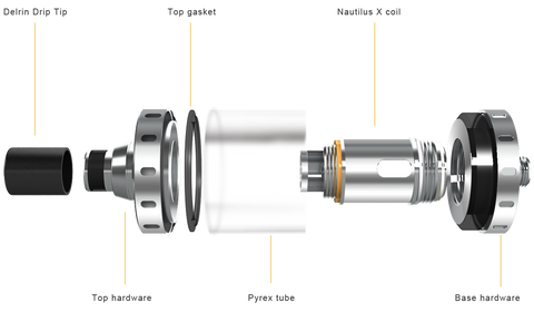 Aspire Nautilus-X Parts Diagram