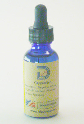 eLiquid  Cappuccino 30 mL - Big D Vapor