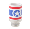 USA Captain America 510 Drip Tip - Big D Vapor - 1