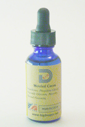 eLiquid - Menthol Cream 30 mL