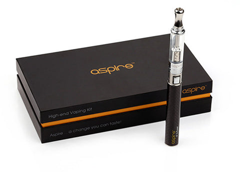 Aspire CF-Power Carbon Fiber Starter Kit with K1 Atomizer, Charger, Wall Adaptor, and extra Coils