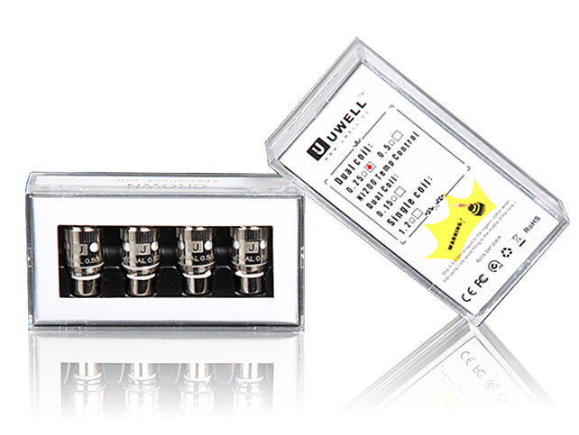 Uwell Crown Tank Coils: Dual Coil or Nickel Ni200 (4 Pack) - Big D Vapor - 1