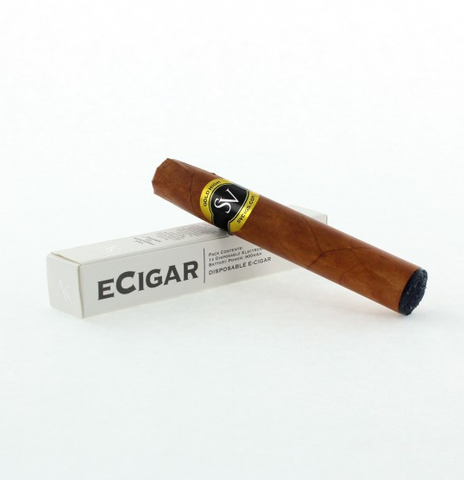 eCigar Electronic Disposable Cigar (Gold Tobacco Flavor)