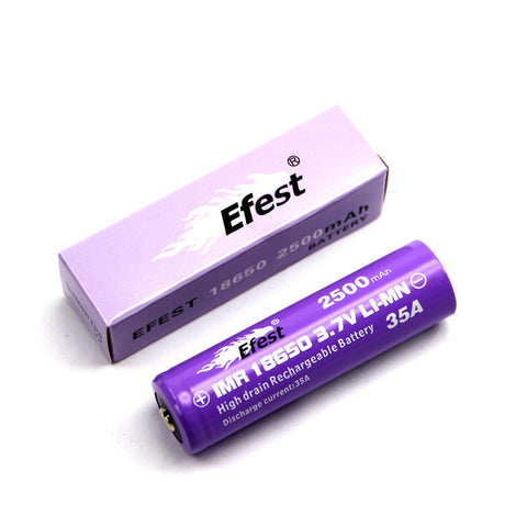 eFest 18650 High Drain Battery, 35 Amp Limit, 2500 Mah