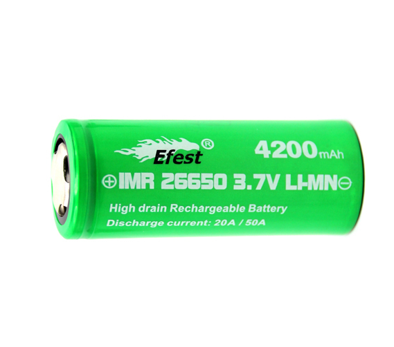 eFest 26650 High Drain 50A 4200mah Lithium IMR Battery - Big D Vapor - 1