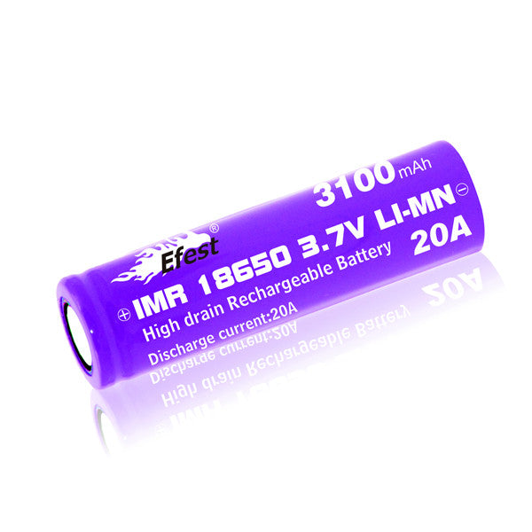 eFest IMR18650 3100mah Flat Top Lithium 20A High Output 3.7V Battery - Big D Vapor - 1