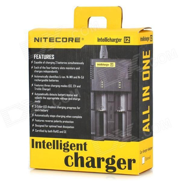 Nitecore i2 Intellicharger Dual Slot Lithium Ion Battery Charger - Big D Vapor - 1