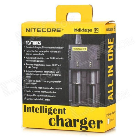 Nitecore i2 Intellicharger Dual Slot Lithium Ion Battery Charger