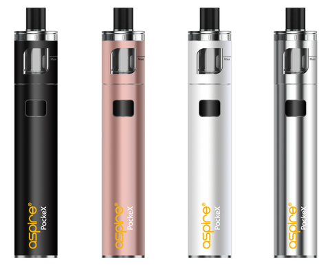 Aspire PockeX Complete Starter Kit (Tank, Battery, Charger, Coils)