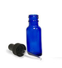 15ml - 1/2 Ounce Boston Round Blue Bottle With Dropper - Big D Vapor - 1