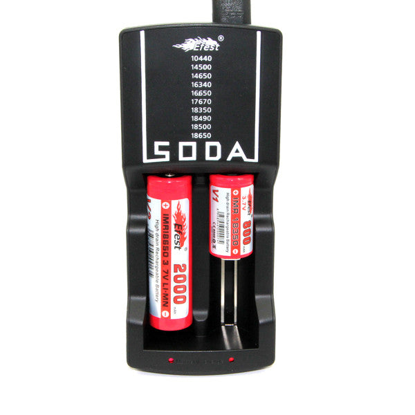 Fully Automatic eFest Soda Dual Slot Automatic 3 Stage Charger - Big D Vapor - 1