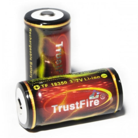 Trustfire TF18350 Rechargeable Battery 1200mah Button Top 3.7V Lithium Ion