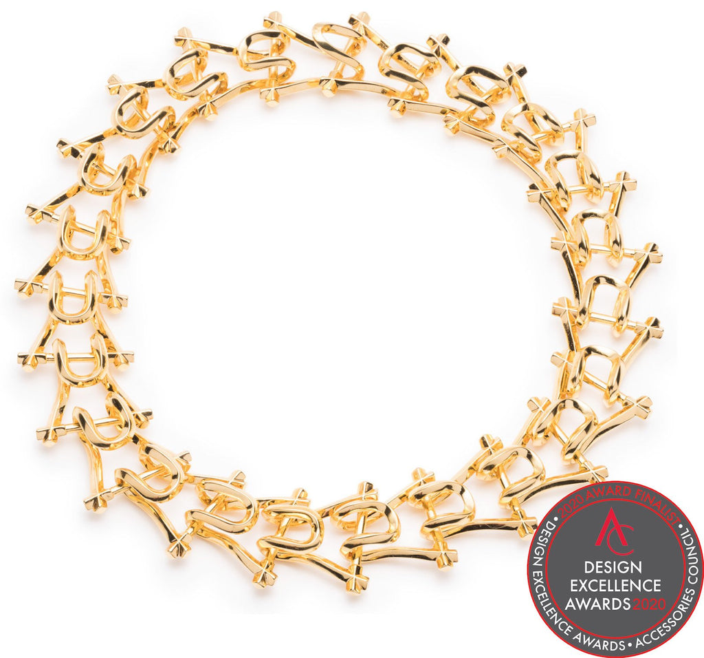 MARCY LINK NECKLACE - GOLD PLATED BRASS - SHOWFIELDS