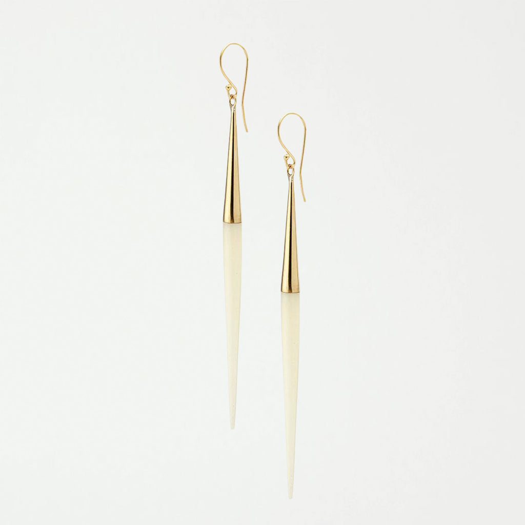 Capped Quill Dangle Earrings - SHOWFIELDS