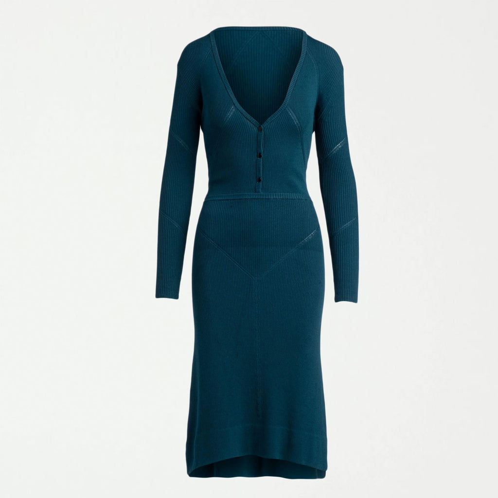The Irma Sweater Dress - Teal - SHOWFIELDS