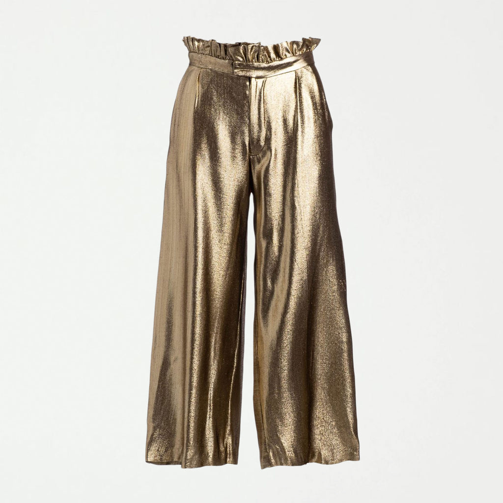 RUNWAY: BIRTHDAY GOLD PAPERBAG PANT - SHOWFIELDS