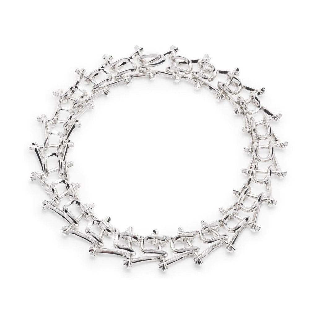 MARCY LINK NECKLACE - SILVER PLATED BRASS - SHOWFIELDS