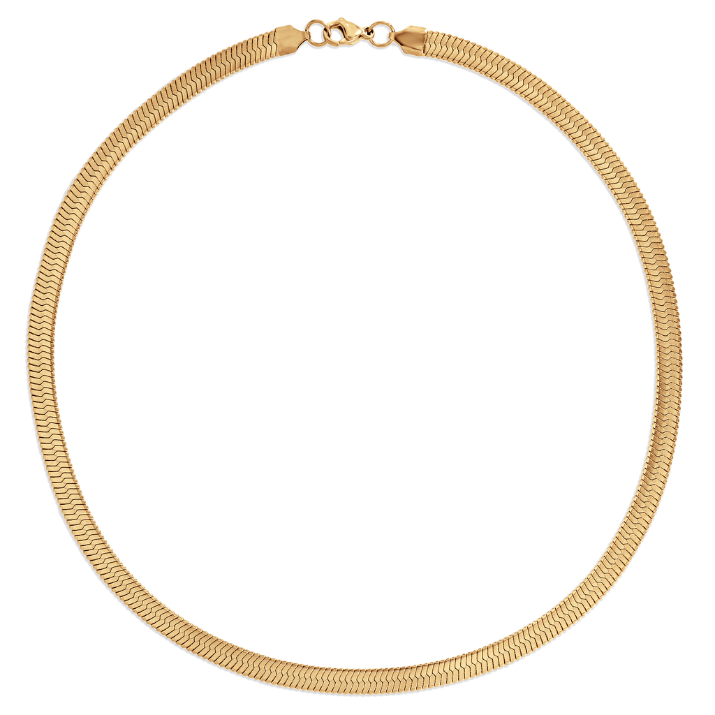 PAOLA HERRINGBONE CHAIN NECKLACE - SHOWFIELDS
