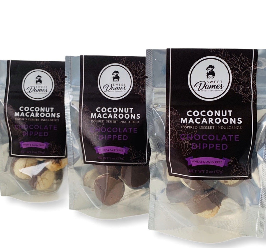 Bite-Size Chocolate Dipped Coconut Macaroon Bundle - SHOWFIELDS