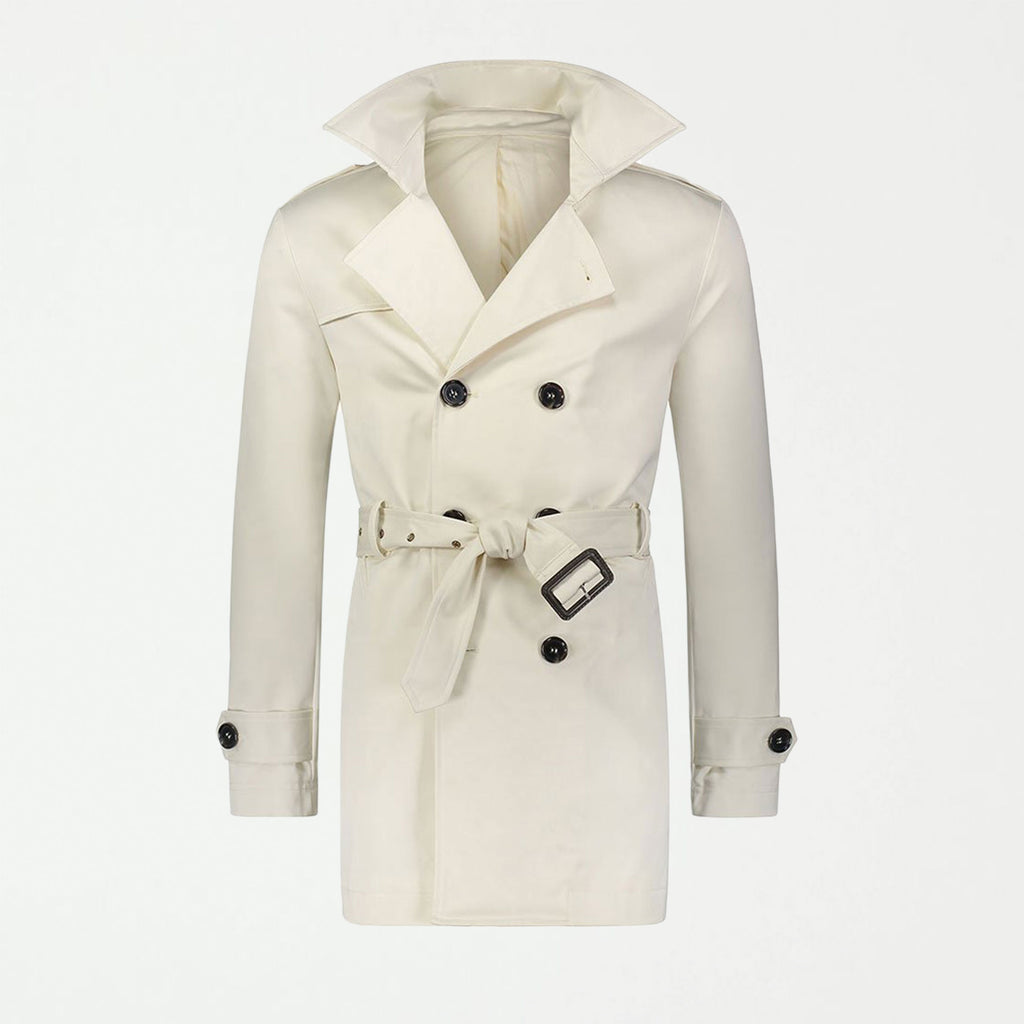 SG Men's Trench Coat - Ivory - SHOWFIELDS